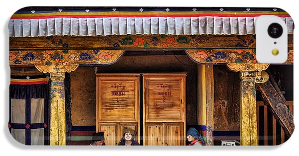 Yak Butter Tea Break At The Potala Palace IPhone 5c Case by Joan Carroll