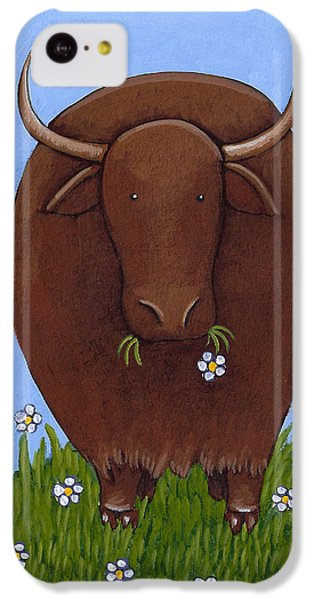 Whimsical Yak Painting IPhone 5c Case by Christy Beckwith