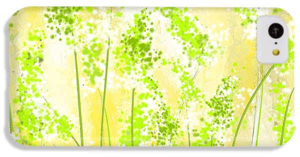 Yellow And Green Art IPhone 5c Case by Lourry Legarde