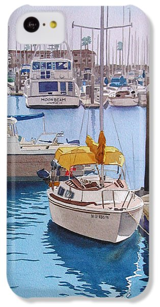 Yellow Sailboat Oceanside IPhone 5c Case by Mary Helmreich