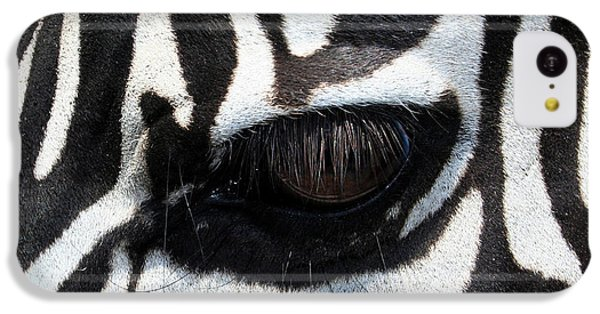 Zebra Eye IPhone 5c Case by Linda Sannuti