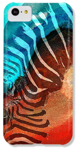 Zebra Love - Art By Sharon Cummings IPhone 5c Case by Sharon Cummings