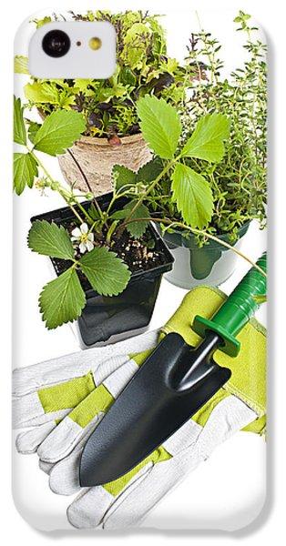 Gardening Tools And Plants IPhone 5c Case by Elena Elisseeva
