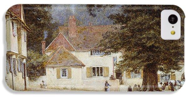 A Cart By A Village Inn IPhone 5c Case by Helen Allingham