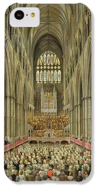 An Interior View Of Westminster Abbey On The Commemoration Of Handel's Centenary IPhone 5c Case by Edward Edwards