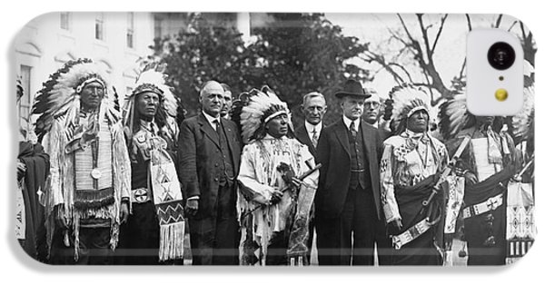 Coolidge With Native Americans IPhone 5c Case by Photo Researchers
