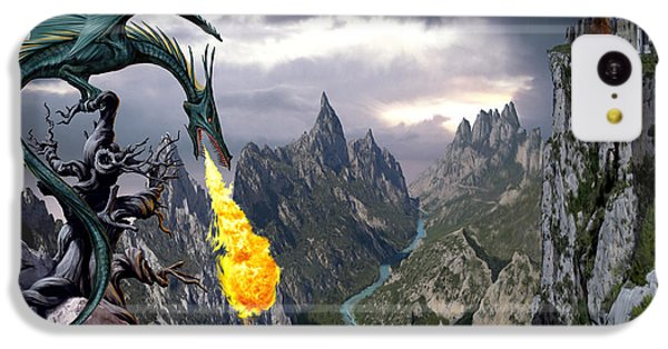 Dragon Valley IPhone 5c Case by The Dragon Chronicles - Garry Wa