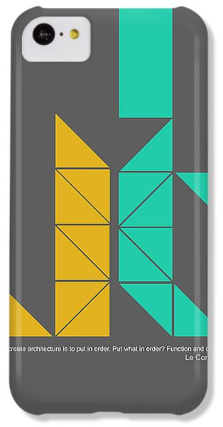 Le Corbusier Quote Poster IPhone 5c Case by Naxart Studio
