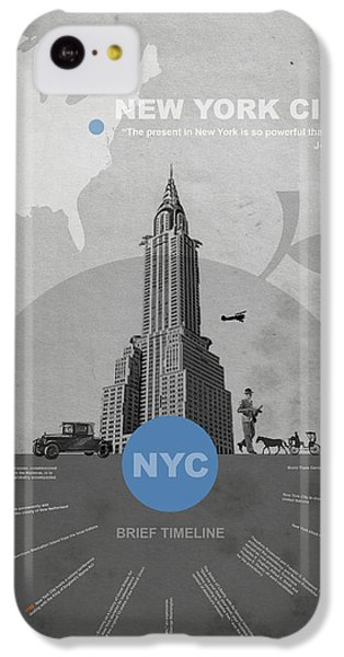 Nyc Poster IPhone 5c Case by Naxart Studio