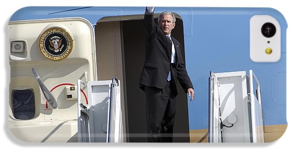 President George Bush Waves Good-bye IPhone 5c Case by Stocktrek Images