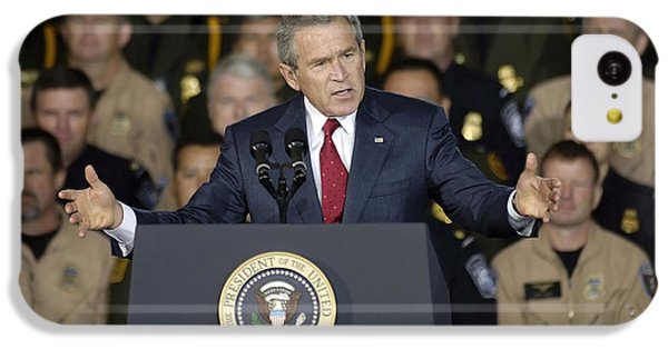 President George W. Bush Speaks IPhone 5c Case by Stocktrek Images