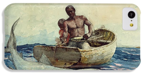 Shark Fishing IPhone 5c Case by Winslow Homer