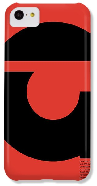 Thomas. F Schutte Quote Poster IPhone 5c Case by Naxart Studio