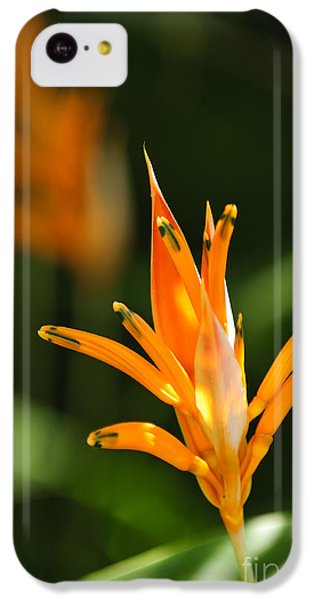 Tropical Orange Heliconia Flower IPhone 5c Case by Elena Elisseeva