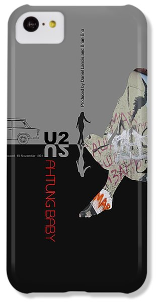 U2 Poster IPhone 5c Case by Naxart Studio