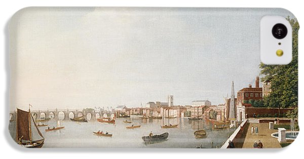 View Of The River Thames From The Adelphi Terrace  IPhone 5c Case by William James