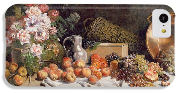 Still Life With Flowers And Fruit On A Table IPhone 5c Case by Alfred Petit