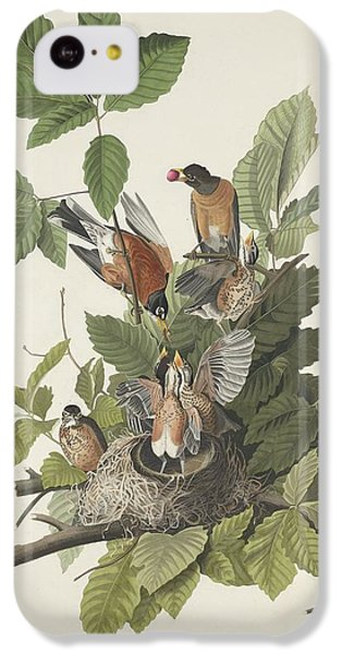 American Robin IPhone 5c Case by John James Audubon