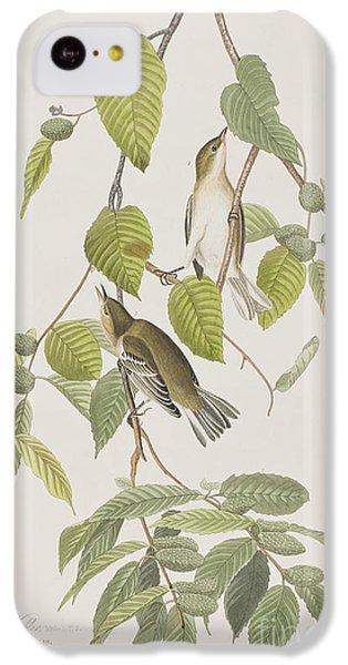 Autumnal Warbler IPhone 5c Case by John James Audubon