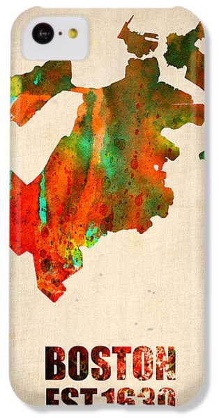 Boston Watercolor Map  IPhone 5c Case by Naxart Studio