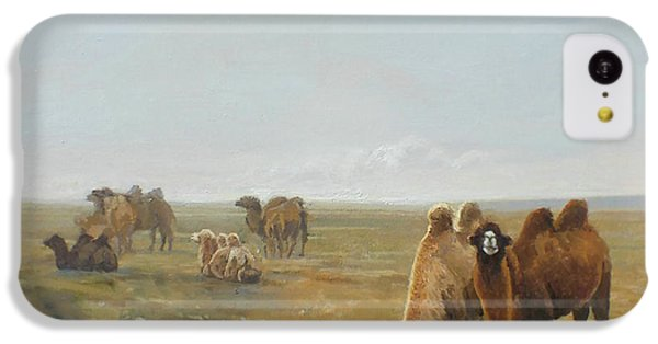 Camels Along The River IPhone 5c Case by Chen Baoyi