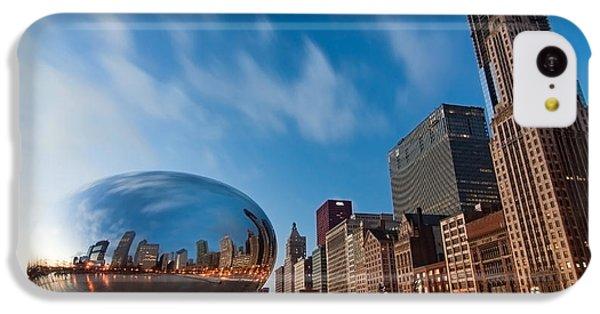 Chicago Skyline And Bean At Sunrise IPhone 5c Case by Sven Brogren