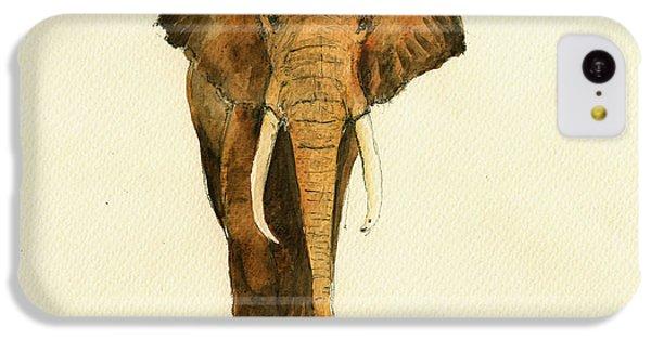 Elephant Watercolor IPhone 5c Case by Juan  Bosco