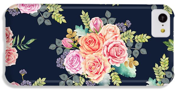 Floral Pattern 1 IPhone 5c Case by Stanley Wong