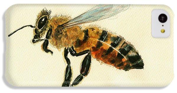 Honey Bee Watercolor Painting IPhone 5c Case by Juan  Bosco