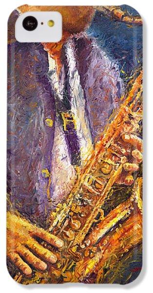 Jazz Saxophonist IPhone 5c Case by Yuriy  Shevchuk
