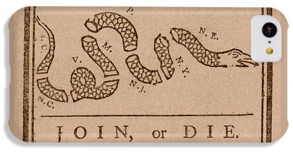 Join Or Die IPhone 5c Case by War Is Hell Store
