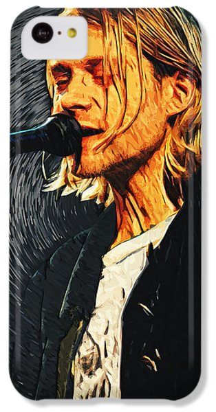 Kurt Cobain IPhone 5c Case by Taylan Apukovska