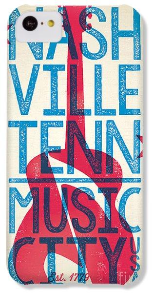 Nashville Tennessee Poster IPhone 5c Case by Jim Zahniser