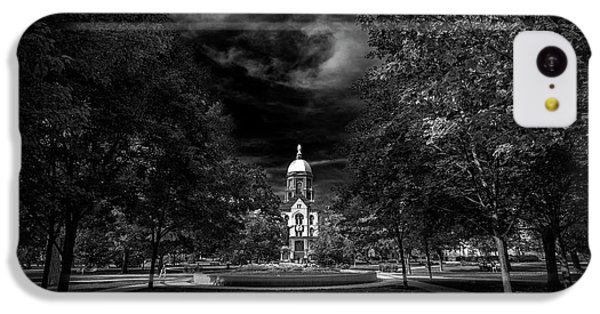 Notre Dame University Black White IPhone 5c Case by David Haskett