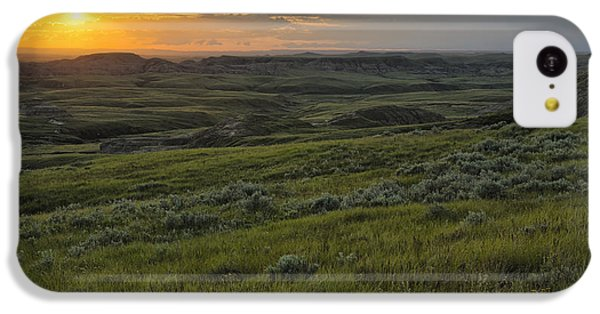 Sunset Over Killdeer Badlands IPhone 5c Case by Robert Postma
