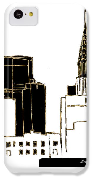 Tenement Empire State Building IPhone 5c Case by Nicholas Biscardi