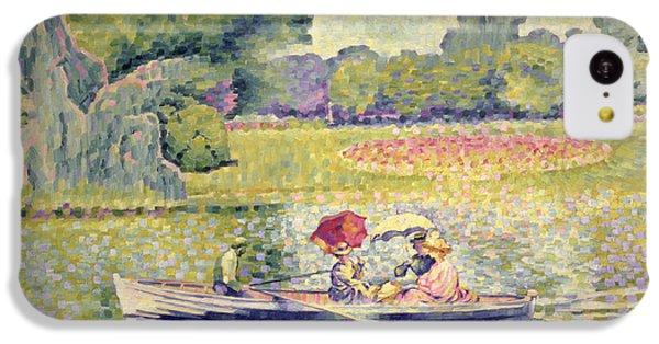 The Promenade In The Bois De Boulogne IPhone 5c Case by Henri-Edmond Cross