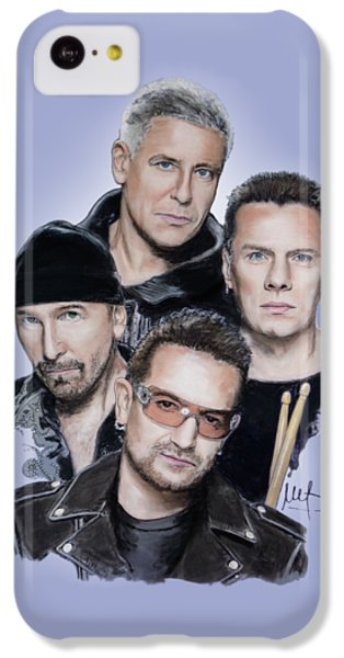 U2 IPhone 5c Case by Melanie D