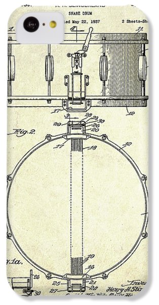 1939 Slingerland Snare Drum Patent S1 IPhone 5c Case by Gary Bodnar
