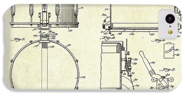 1939 Slingerland Snare Drum Patent Sheets IPhone 5c Case by Gary Bodnar