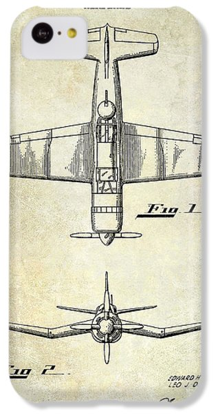 1946 Airplane Patent IPhone 5c Case by Jon Neidert