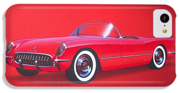 1953 Corvette Classic Vintage Sports Car Automotive Art IPhone 5c Case by John Samsen