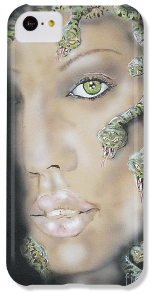 1st Medusa IPhone 5c Case by John Sodja
