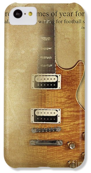 Darius Rucker Inspirational Quote, Electric Guitar Poster For Music Lovers And Musicians IPhone 5c Case by Pablo Franchi