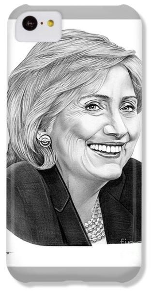 Hillary Clinton IPhone 5c Case by Murphy Elliott