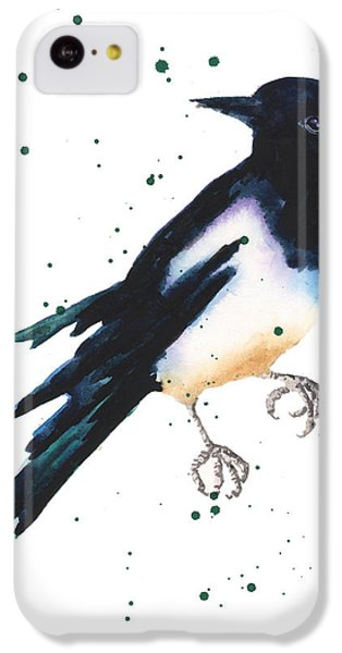 Magpie Painting IPhone 5c Case by Alison Fennell