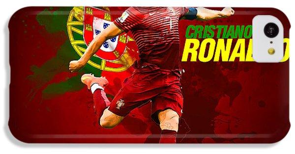 Cristiano Ronaldo IPhone 5c Case by Semih Yurdabak