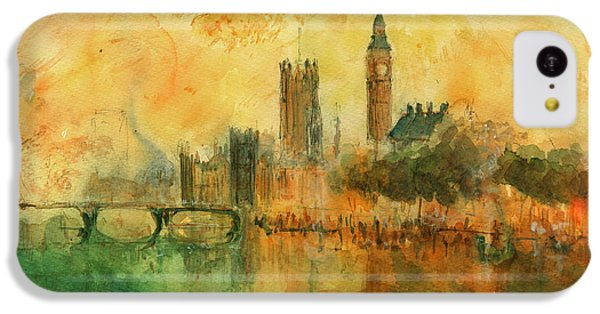 London Watercolor Painting IPhone 5c Case by Juan  Bosco