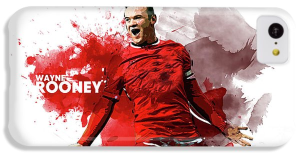 Wayne Rooney IPhone 5c Case by Semih Yurdabak