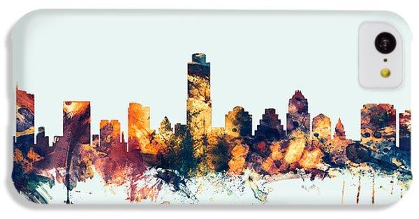 Austin Texas Skyline IPhone 5c Case by Michael Tompsett